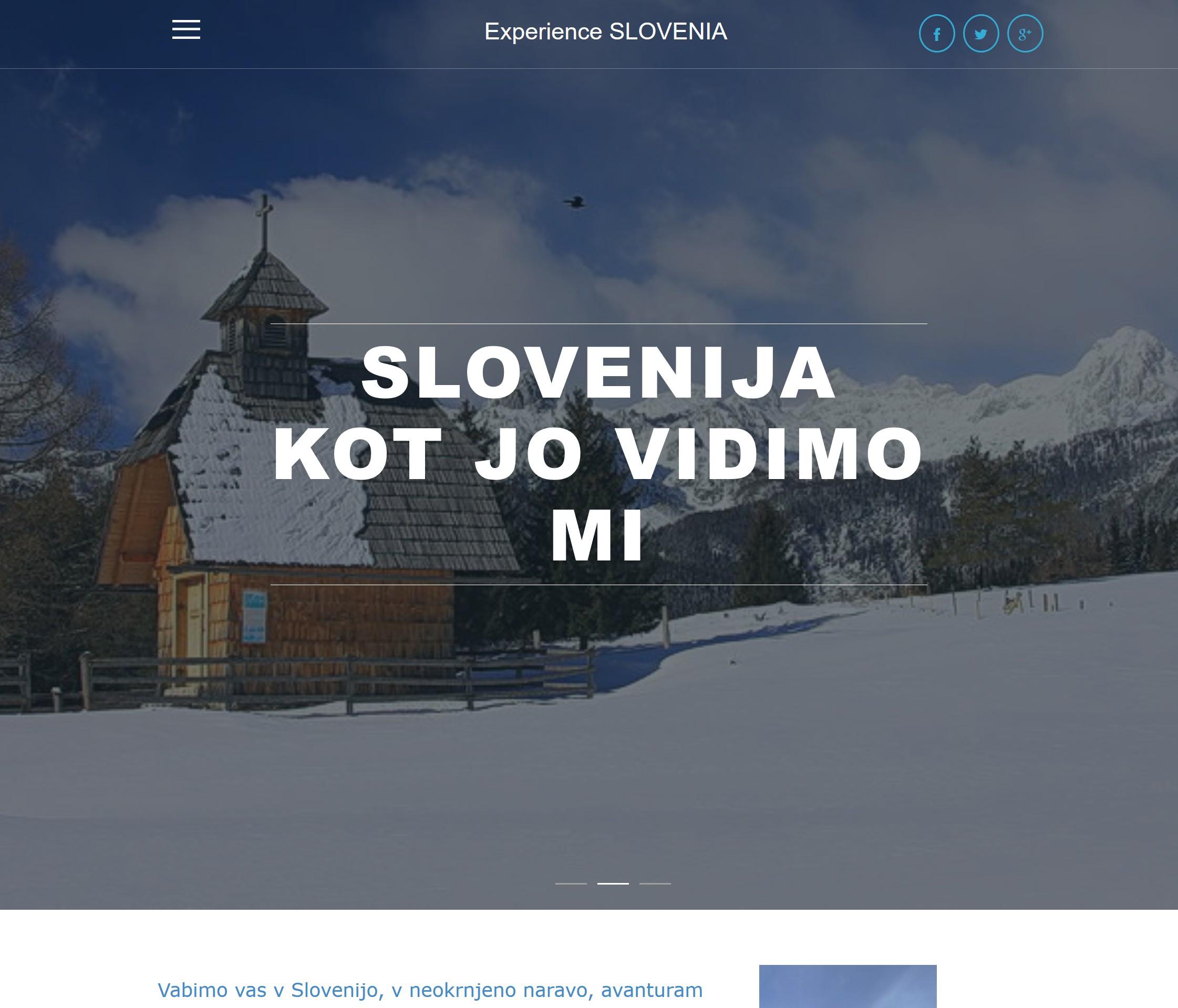 Experience SLOVENIA